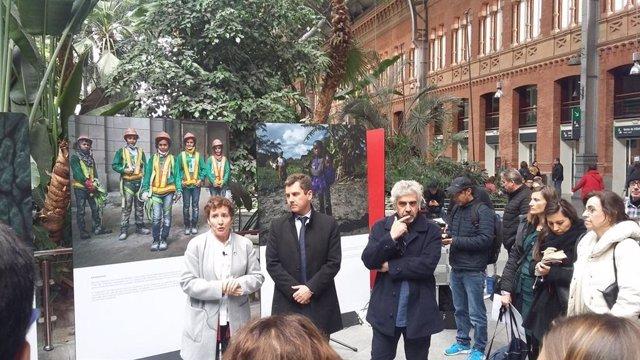 Inauguración de la exposición 'Huellas' de la AECID