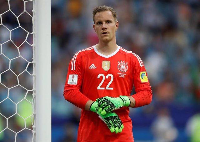 Ter Stegen con la selección de Alemania en la Confederaciones