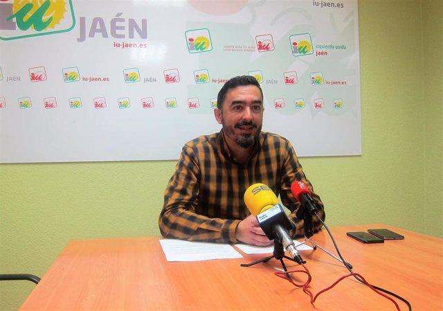 El coordinador provincial de IU en Jaén, Francisco Javier Damas.