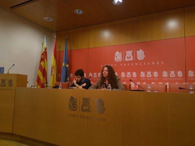 Antonio Estañ y Beatriu Gascó (Podem)