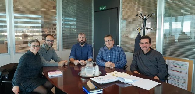 Antoni Morante,  Guillem Villalonga, J.M. Alba, Miquel Gallardo y Jordi Escudero