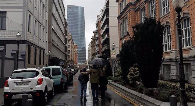 Día lluvioso en Bilbao