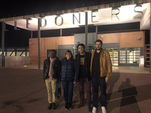 Visita de Busquets i Balboa als polítics catalans a la presó en Lledoners