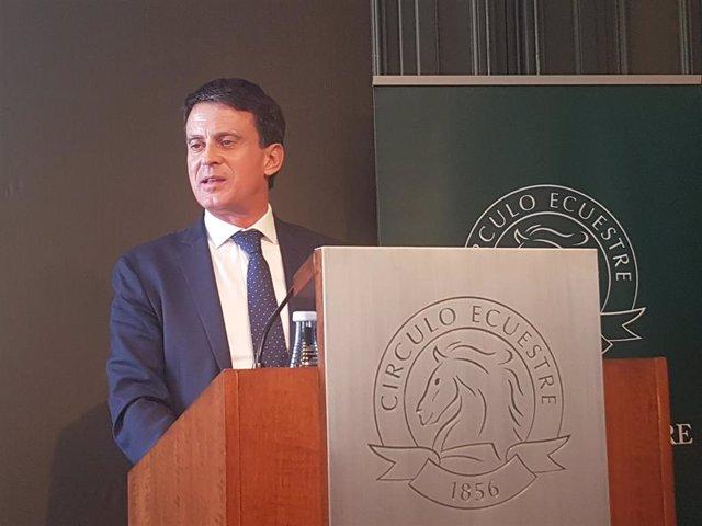 El exprimer ministro francés y candidato a Alcaldía de Barcelona, Manuel Valls