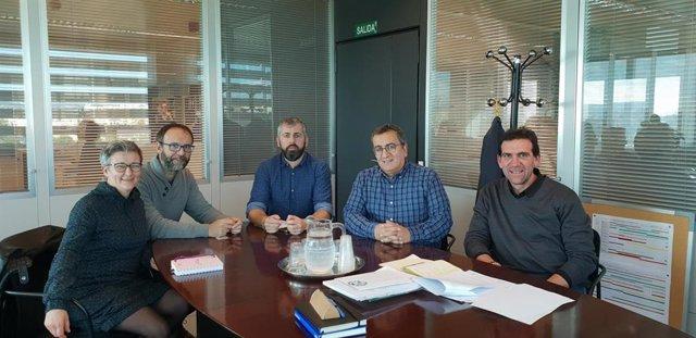 Antoni Morante,  Guillem Vilallonga, J.M. Alba, Miquel Gallardo i Jordi Escudero