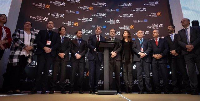 Inauguración del Pabellón de Canarias en Fitur 2019