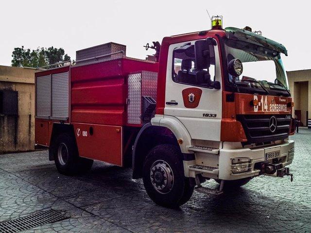 Imagen de archivo de un camión de bomberos de Melilla