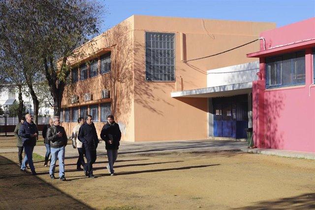 Obra en el CEIP 'La Paz'  de La Rinconada