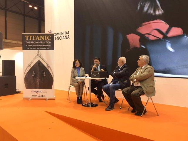 Presentación de la exposición Titanic en Fitur