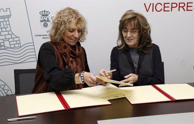 Díaz Tezanos firma un convenio de colaboración con ADANER.