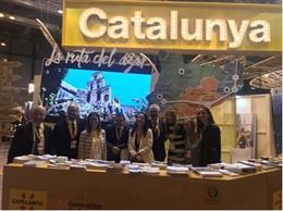 El expositor de Catalunya en la feria de turismo madrileña Fitur