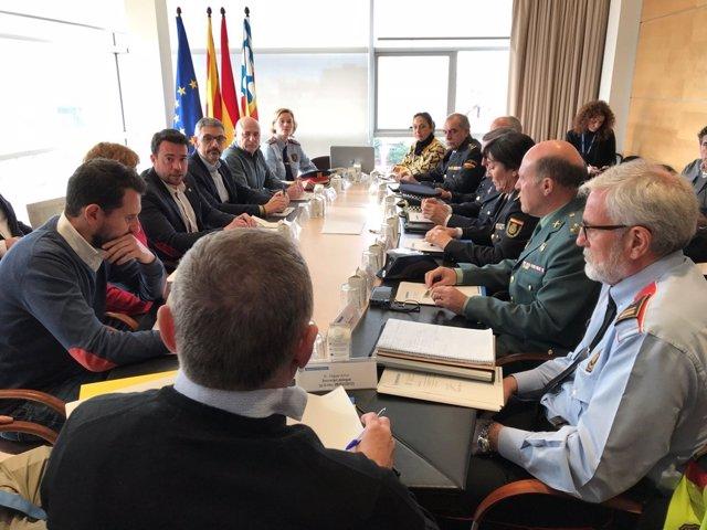 Junta Local de Seguridad de Badalona con el alcalde Álex Pastor