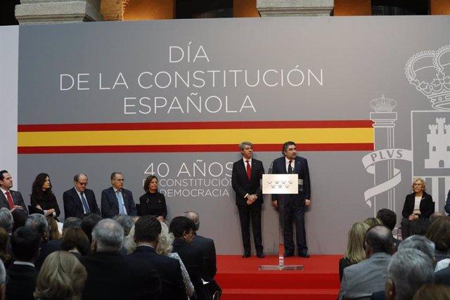 Acto de homenaje a la Constitución de la Comunidad de Madrid en la Real Casa de