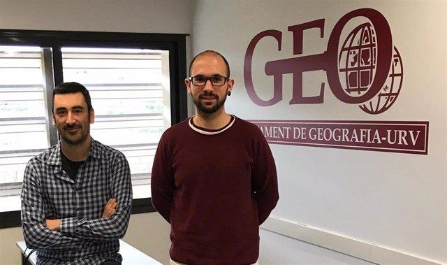 Los investigadores de la URV Aaron Gutiérrez y Antoni Domnech