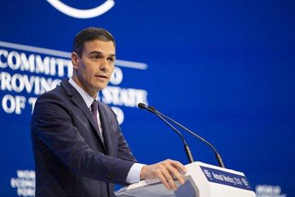 """Sánchez defiende en Davos que los Presupuestos aportan """"sostenibilidad"""" a las cuentas públicas a largo plazo"""