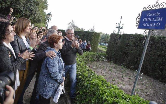 Inauguración del paseo de Guillem Agulló en Valncia