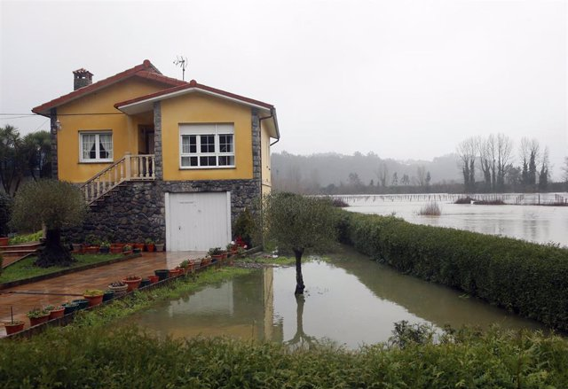 Temporal de lluvias en Asturias