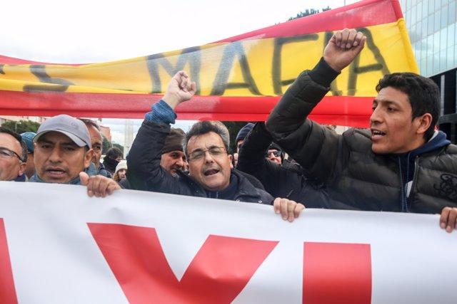 Celebración de una asamblea general de taxistas de Madrid en Ifema para fijar una hoja de ruta sobre las movilizaciones que van a emprender