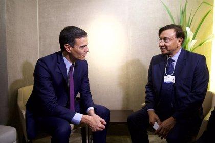 Sánchez, reunido en Davos con los presidentes de Colombia, Ecuador y Costa Rica para hablar de Venezuela