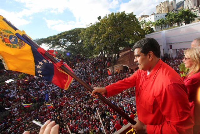 Venezuela's President Nicolas Maduro attends a rally in support of his governmen