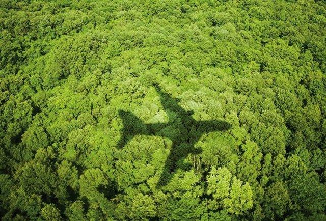 Avión verde