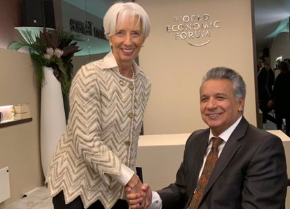 La directora del FMI muestra apoyo a las reformas económicas de Ecuador