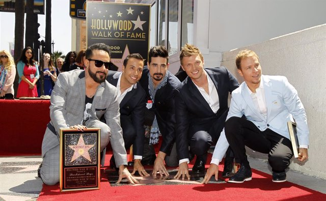 Backstreet Boys (from L-R) A. J. McLean, Howie Dorough, Kevin Richardson, Nick C