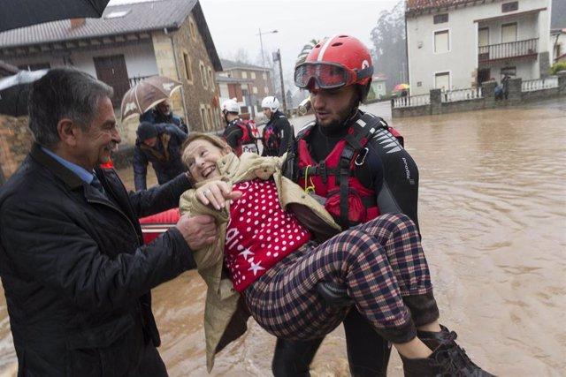 Revilla en inundaciones