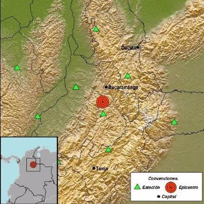 Un terremoto de magnitud 5,4 sacude el noreste de Colombia