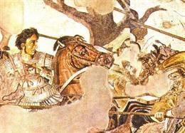 Alejandro Magno en la batalla de Isos