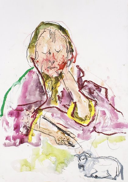 El dibujante Guillaume Brure interpreta con dibujos una selección de las obras maestras del Museo Lázaro Galdiano