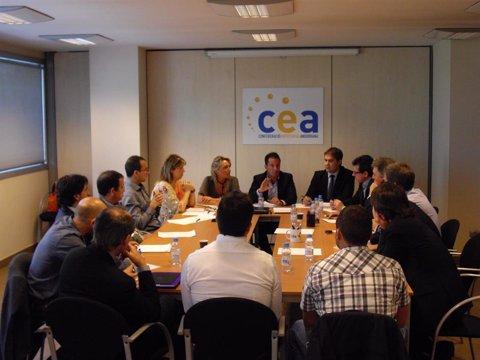 Reunió de Confederació Empresarial Andorrana (Cea) i Partit Socialdemòcrata