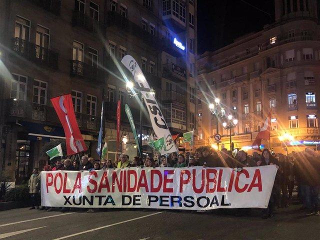 Manifestación en vigo por la sanidad pública