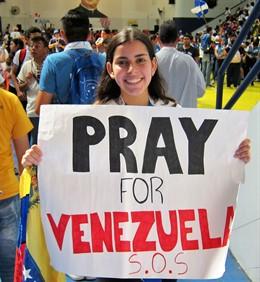 Jóvenes venezolanos en la JMJ