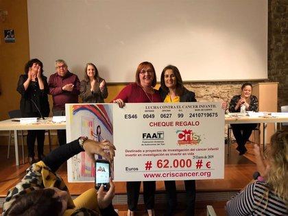 Las taxistas de España donan 62.000 euros a la investigación de cáncer infantil de CRIS