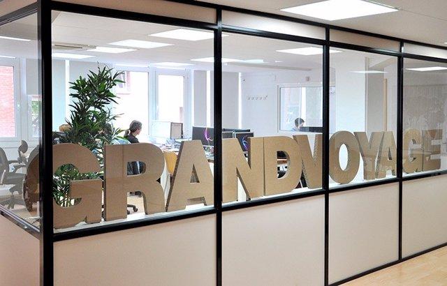 Oficina de Grandvoyage, especializada en viajes de larga distancia