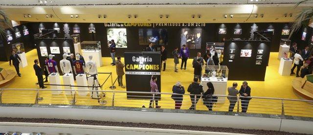 Exposición 'Galería de Campeones' de la APDM en Corte Inglés de Sanchinarro