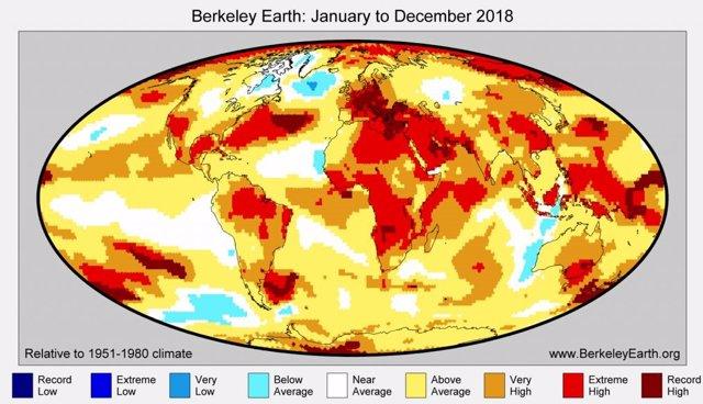 Anomalía de temperaturas en 23018