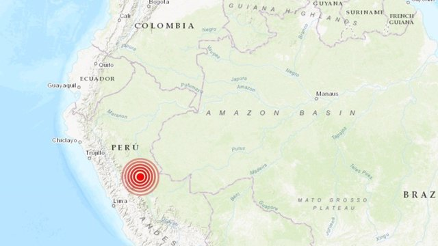 Sismo centro Perú