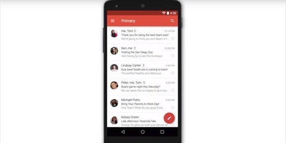 9. Google prueba la carga rápida de páginas web AMP en la versión Android de Gmail