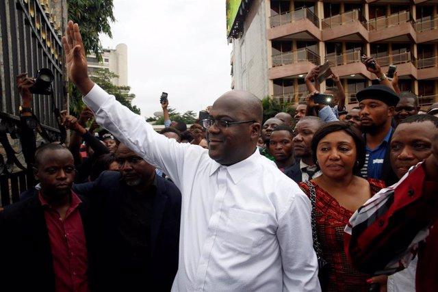 Félix Tshisekedi, ganador de las presidenciales en RDC