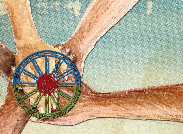 La rueda símbolo del pueblo gitano