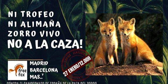 9. Concentración en A Coruña contra el Campeonato de España de la Caza de Zorro