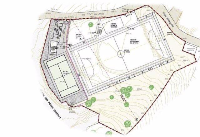 Plano del proyecto que va a desarrollarse en el municipio de Turrillas.