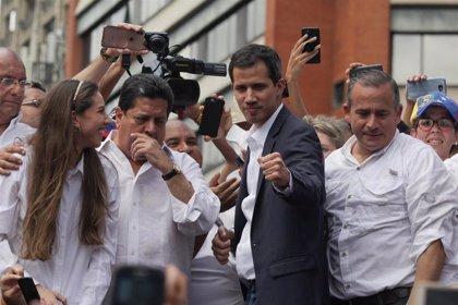 """AMP.- Venezuela.- Guaidó agradece a Sánchez """"su compromiso ante esta lucha democrática"""""""