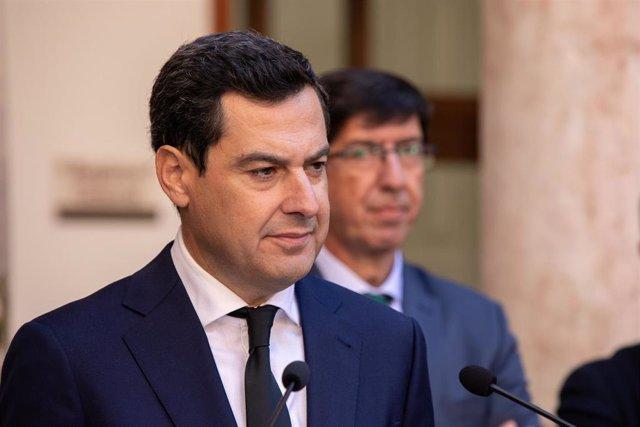 Rueda de prensa de Juanma Moreno posterior al Consejo de Gobierno