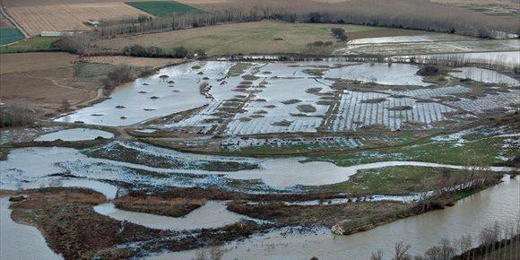 1. La avenida causada por el temporal de lluvia y nieve no causa incidencias significativas en Navarra
