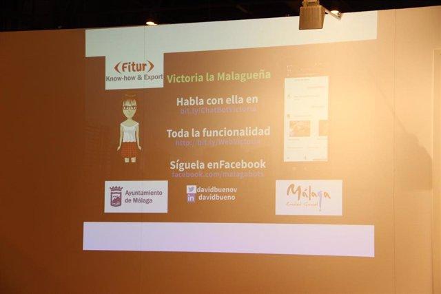 Chatbot 'Victoria La Malagueña'