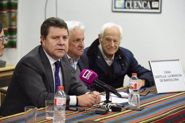 El presidente de Castilla-La Mancha, Emiliano García-Page, en Barcelona