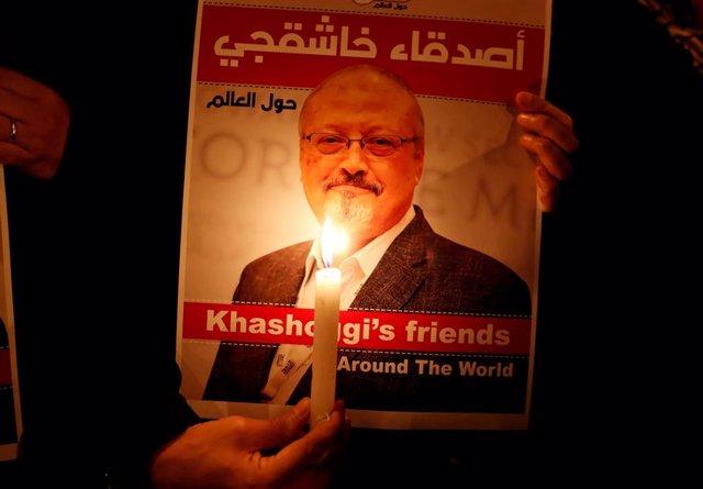 Protesta en homenaje a Yamal Jashogi